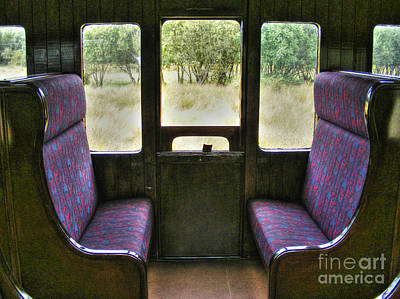 Photograph - Old Train Window Seats by Nina Ficur Feenan