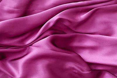 Purple Silk Art Print