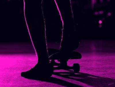 Sex Change Photograph - Purple Skateboard by Fernando Maragataba