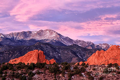Purple Skies Over Pikes Peak Art Print by Ronda Kimbrow