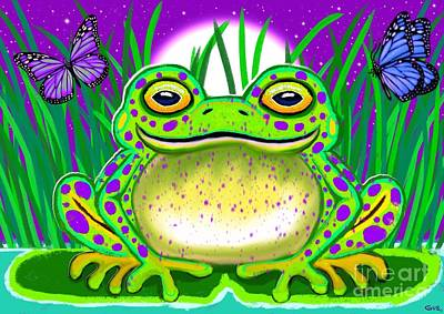 Winter Animals - Purple Spotted Frog by Nick Gustafson