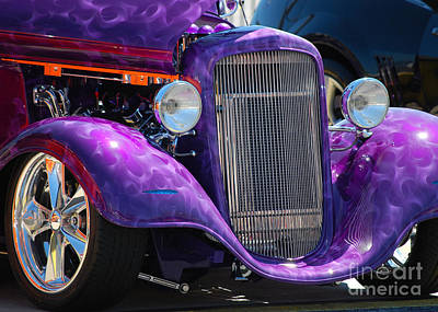 Purple Street Rod Art Print