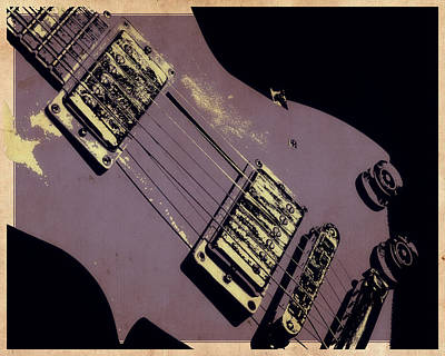 Epiphone Guitars Photograph - Purple Strings by Tilly Williams