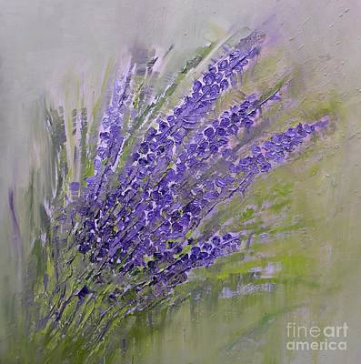 Painting - Purple Lavender Summer by AmaS Art