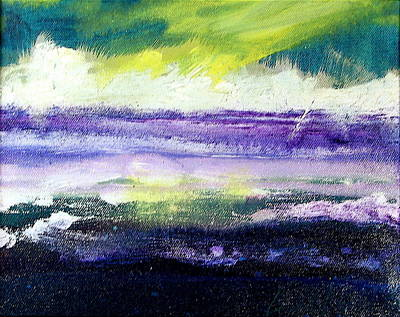 Painting - Purple Sunrise by Les Leffingwell