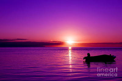 Art Print featuring the photograph Purple Sunrise by Yew Kwang
