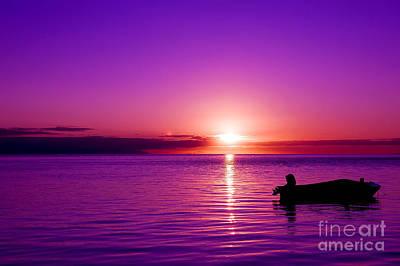 Photograph - Purple Sunrise by Yew Kwang