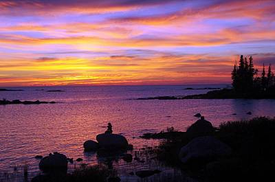 Photograph - Purple Sunset 2 by Sheila Byers