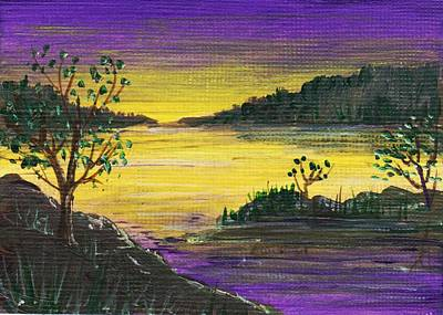 Painting - Purple Sunset by Anastasiya Malakhova