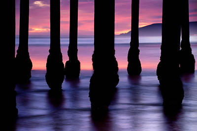 Photograph - Purple Sunset At Pismo Beach - California by Gregory Ballos