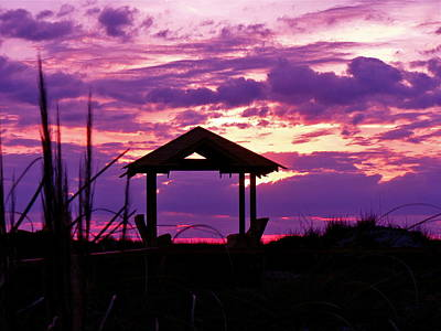 Photograph - Purple Sunset by Jean Wright
