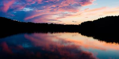 Cloud Like Glass Photograph - Purple Sunset  by Yevgeni Kacnelson