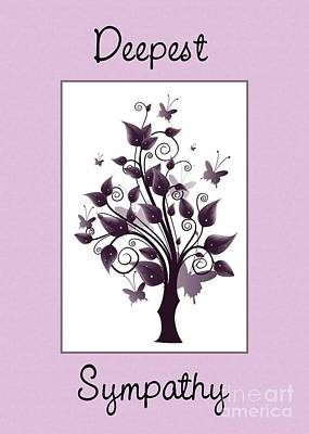 Digital Art - Purple Sympathy Tree by JH Designs