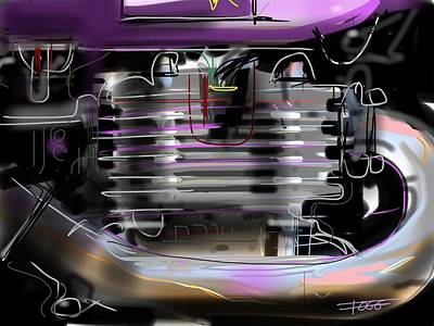 Purple Tank Art Print