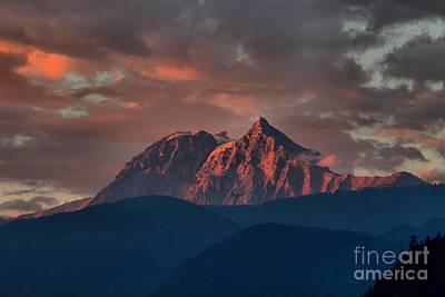 Photograph - Purple Tantalus Mountain Peaks by Adam Jewell