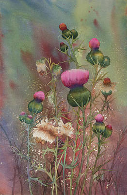 Painting - Purple Thistle by Johanna Axelrod