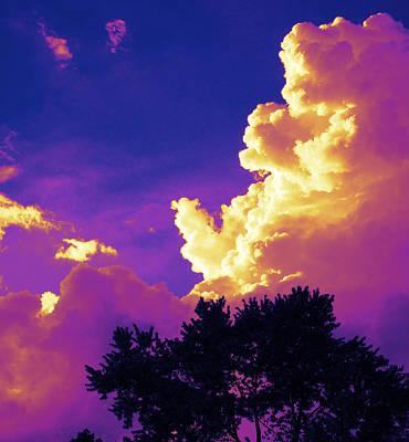 Purple Thunder Art Print by Deborah Fay