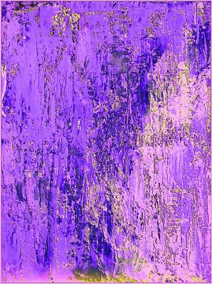 Earthy Abstract Art Mixed Media - Purple Toxic by Bill Solley