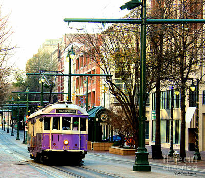 Purple Trolley Art Print