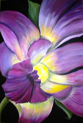 Delicate Details Painting - Purple Tropical by Debi Starr