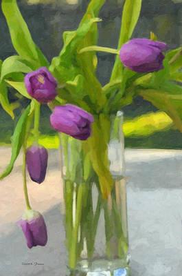Purple Tulips Art Print by Kenny Francis
