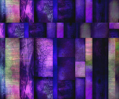 Digital Art - Purple Twilight  - Abstract Art  by Ann Powell