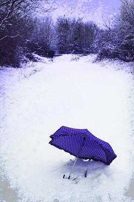 Purple Umbrella Art Print by Amanda Elwell
