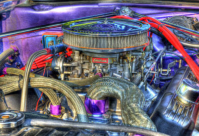 Purple Under The Hood Art Print
