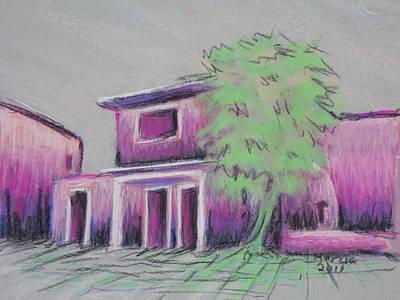 Purple Village Art Print by Marcia Meade