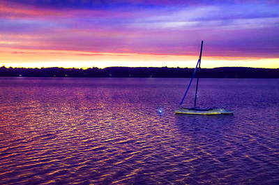 Peace Photograph - Purple Waters  by Cindy Greenstein