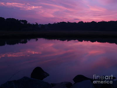 Photograph - Purple Weekapaug Sunrise Over Pond -  Rhode Island by Anna Lisa Yoder