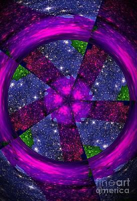 Painting - Purple Wheel Vortex by Saundra Myles