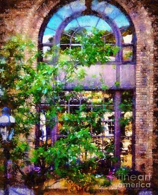 Photograph - Purple Window Reflections Bethlehem Pa by Janine Riley