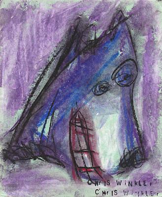 Purple Wolf Art Print by Christopher Winkler