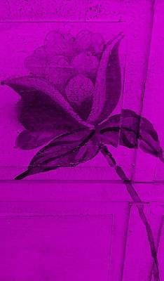 Purple Wood Flower Art Print by Rob Hans