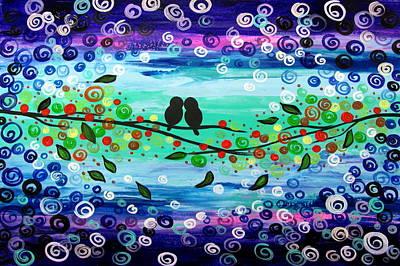 Purple World Art Print by Mariana Stauffer