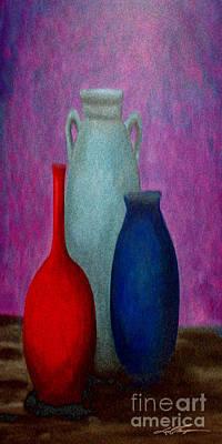 Aztec Pottery Painting - Purplehaze 2 by Joel Thompson
