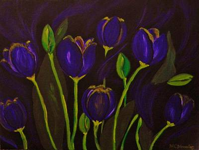 Art Print featuring the painting Purpleluscious by Celeste Manning