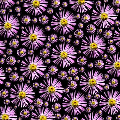Digital Art - Purplish And Daisy Like by Grace Dillon
