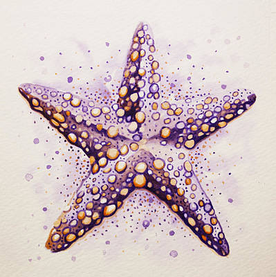 Purpura Starfish Art Print