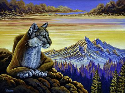 Painting - Purrfect Vista by Vivian Markham