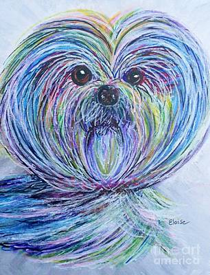 Cute Dog Painting - Shih Tzu by Eloise Schneider