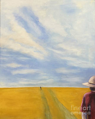 Painting - Pursuit In The Flint Hills by Barbara Anna Knauf