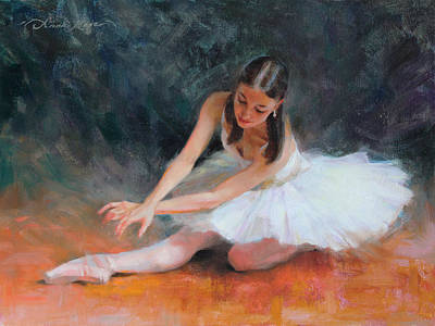 Tutu Painting - Pursuit Of Perfection by Anna Rose Bain