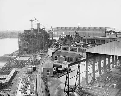 Christina Photograph - Pusey And Jones Shipyard by Hagley Museum And Archive