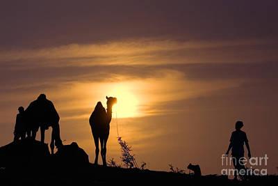 Photograph - Pushkar Sunset Rajasthan India by Neville Bulsara