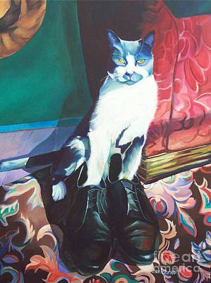Painting - Puss In Shoes.  by Adele Castillo