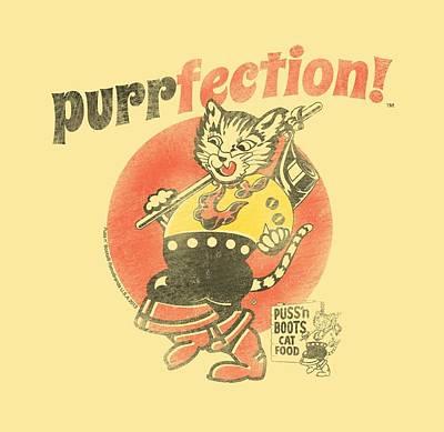 Puss Digital Art - Puss N Boots - Purrfection by Brand A