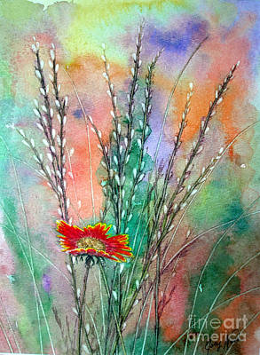 Gerbera Daisy Painting - Pussy Willows by Joey Nash