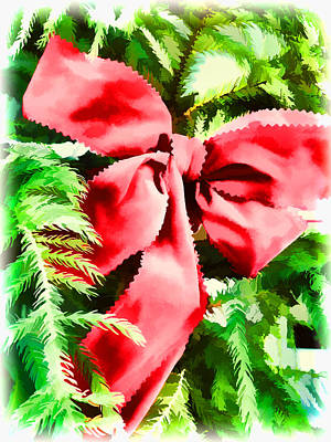 Photograph - Put A Christmas Bow On It by Nora Martinez